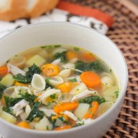 Turkey, Kale and Sweet Potato Soup