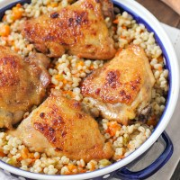 Honey Lemon Glazed Chicken and Baked Barley