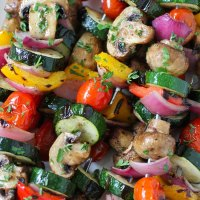 Grilled Vegetable and Mushroom Kebabs