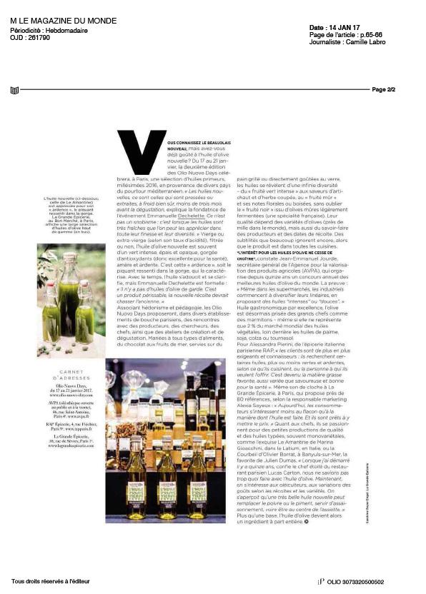 M Le Magazine du Monde Olio Nuovo Days 2017-1