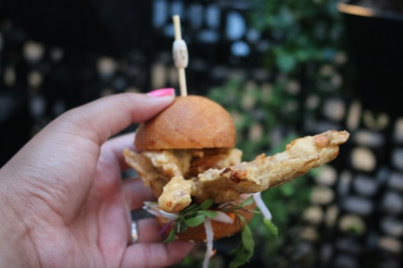 The Flying Duck Hotel - Soft-shell crab slider
