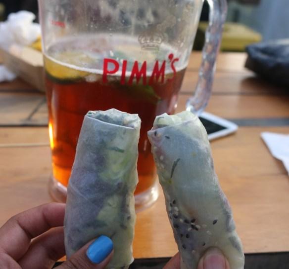 Royal Croquet Club Melbourne 2015 - Tokyo Tina kingfish rice paper rolls