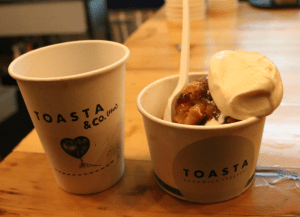 Toasta & co - sticky date bread & butter pudding