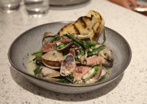Roxborough - pipis & clams w smoked pork hock