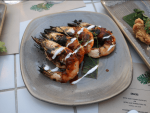 Bang Bang RC - Chargrilled king prawns