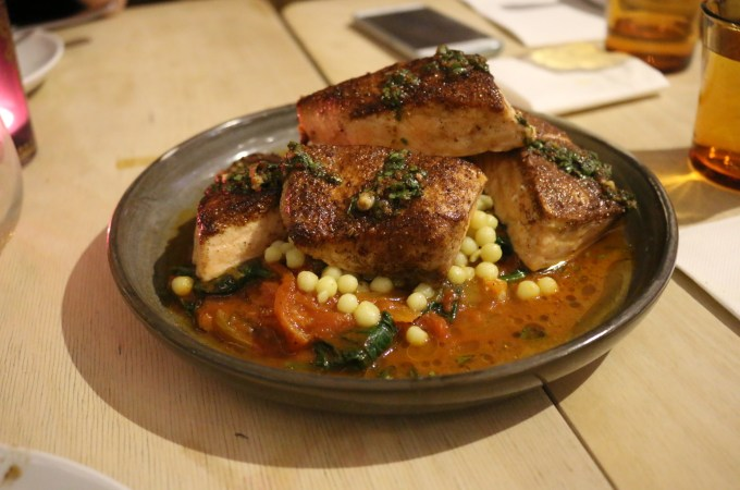 Mr. Lawrence - Salmon, fennel and spinach tagine