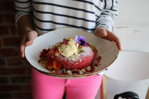 Prospect Espresso - Strawberry lamington hotcake