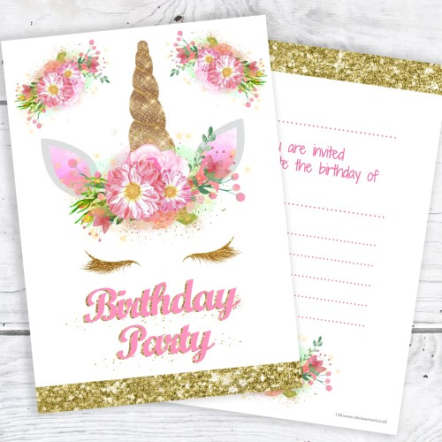 Medium Crop Of Unicorn Birthday Invitations