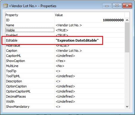 Editable-Property-On-Vendor-Lot-No-Dynamics-NAV
