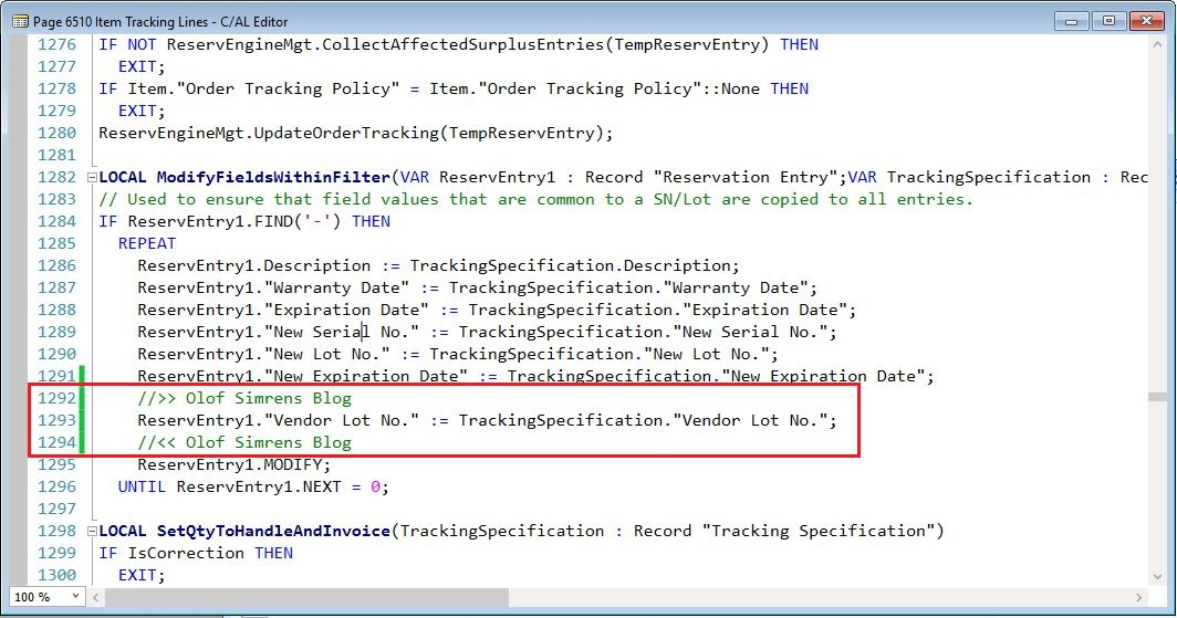 ModifyFieldsWithinFilter-Function-2-Item-Tracking-Lines-Page-Dynamics-NAV