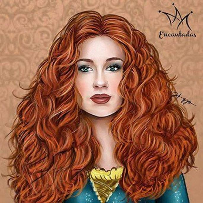 Ilustrador cria princesas da Disney com rostos de artistas brasileiras (3)