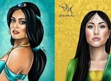 Ilustrador cria princesas da Disney com rostos de artistas brasileiras