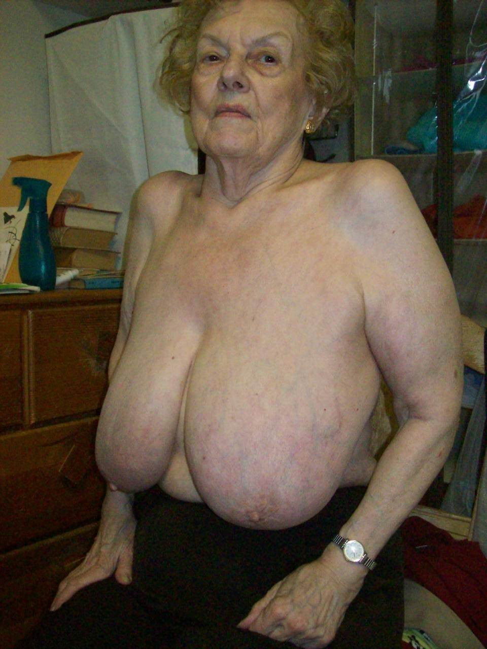 Old grannies with big boobs
