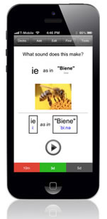 An example of the app on a phone