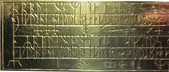 Mystery Runic inscription on gold bar