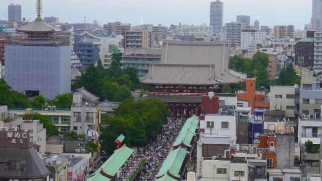 """""""Asakusa from the Tourism Information Center"""""""
