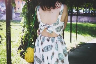 vestiti estivi summer dress ananas frutta pineapple trend p/e 2016