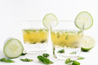 Cucumber Mint Whiskey Smash
