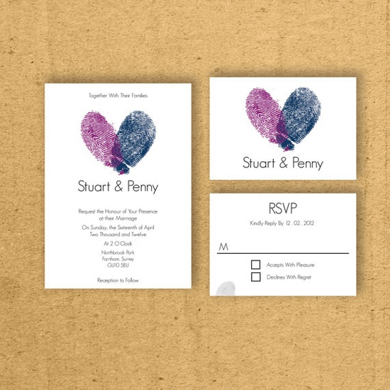 Thumb prints Invitation