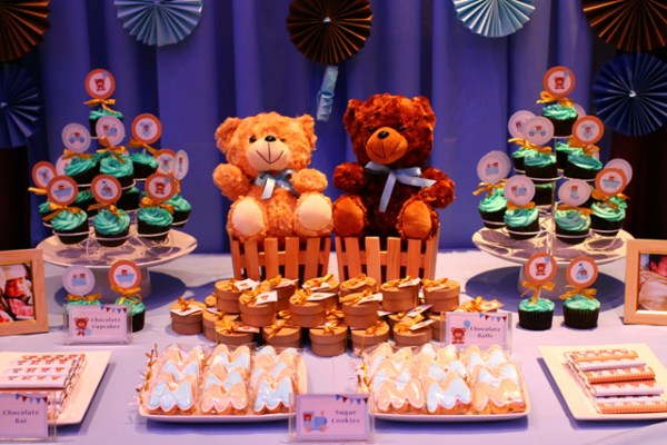 Blue and Brown Teddy Bear Themed Party - 11