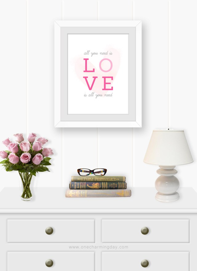 Beatles Inspired Valentine's Day Printable Wall Art