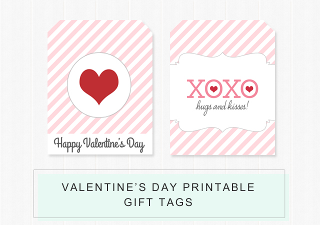 Valentines Day Printable Gift Tags