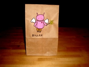 Hand Drawn Lunch Bags