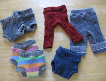 Repurposed Sweaters to Diaper Covers