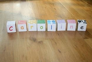 DIY Wooden Name Blocks