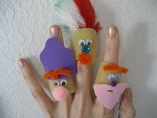 Pasta Finger Puppets