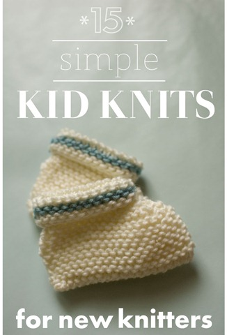 15 Simple Kid Knits For New Knitters One Crafty Place