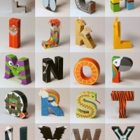Printable 3D Alphabet from DigitProp