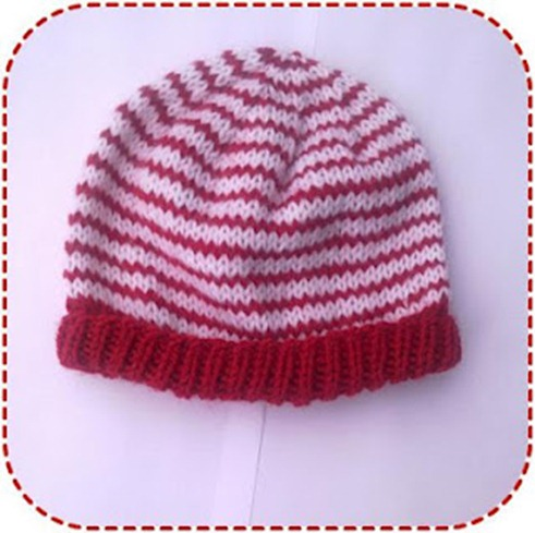 simple striped baby hat knitting pattern  ala sascha