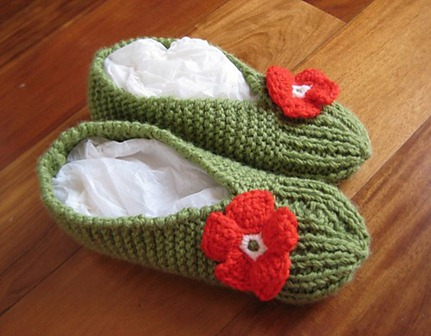 slippers knitting pattern by beatrrice cavicchioli