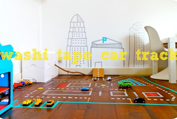 DIY Masking Tape Roadway
