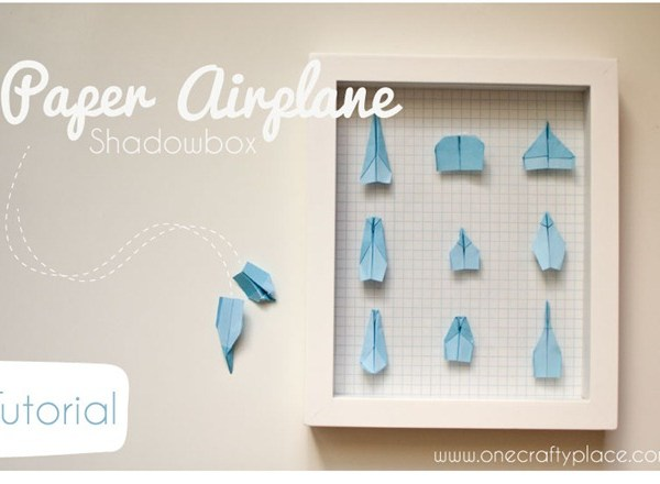 Paper Airplane Shadowbox