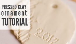 pressed clay ornament tutorial