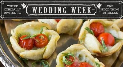 Simple Yet Elegant Wedding Food - Pesto Wedding Tarts ...
