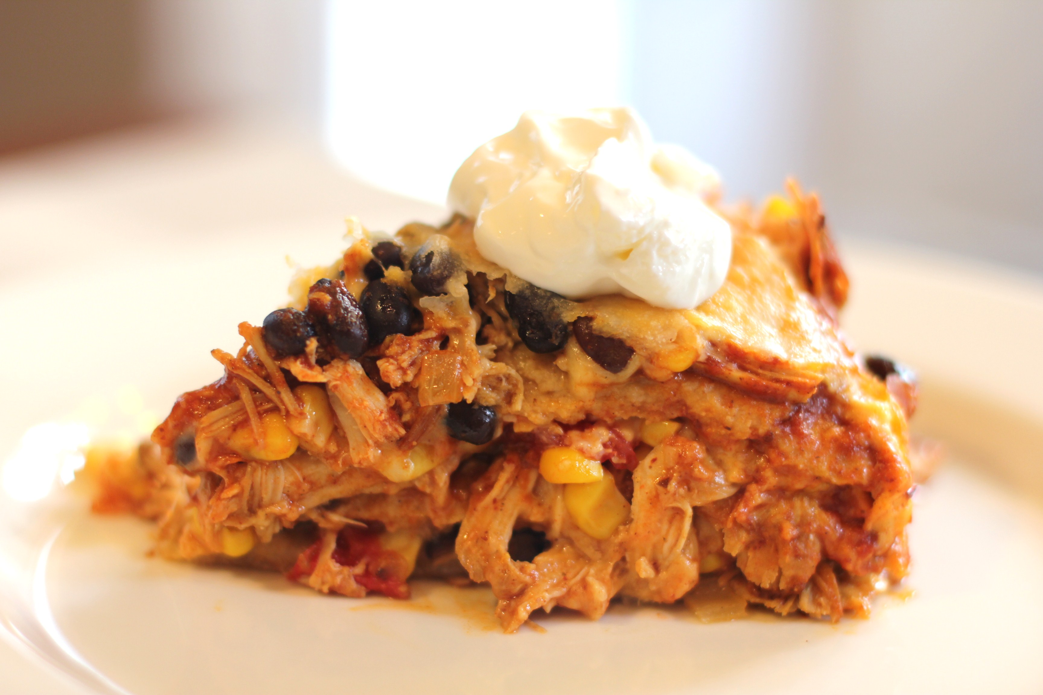 Recipe: How to Make a Layered Chicken and Black Bean Enchilada