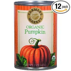 Farmer's Market Foods Organic Canned Pumpkin, 15-Ounce Cans