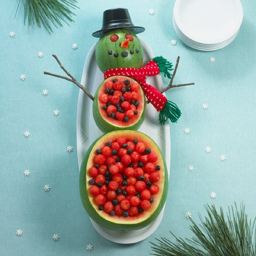 christmas fruit and vegetable platters trays