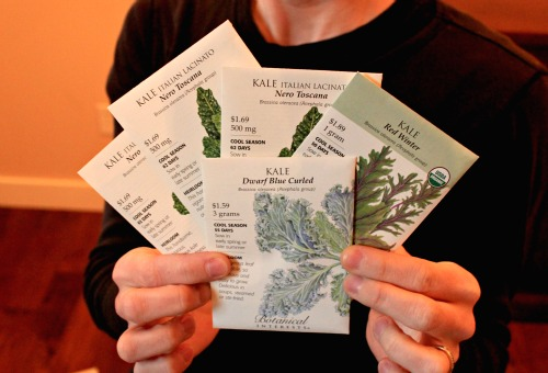 botanical interests seed company kale seed packets