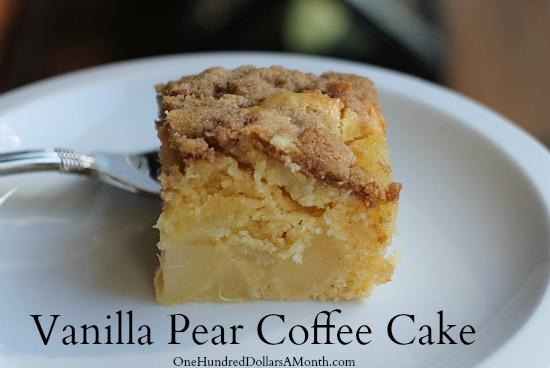 Recipe Vanilla Pear Coffee Cake