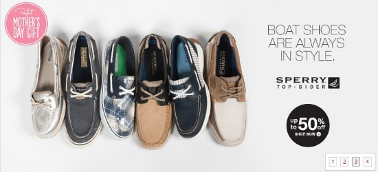 coupons for sperry top-sider boat shoes