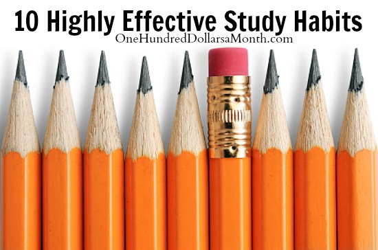 10 Highly Effective Study Habits