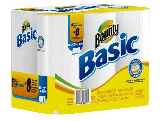 Bounty Basic Paper Towel Select-A-Size Rolls