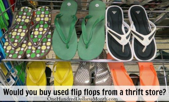 used flip flops