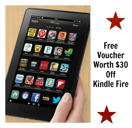 Free Voucher Worth $30 Off Kindle Fire