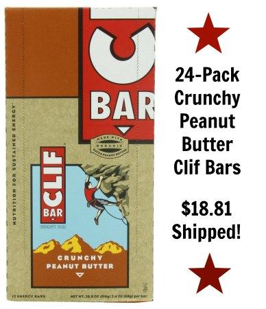 crunchy peanut butter clif bars