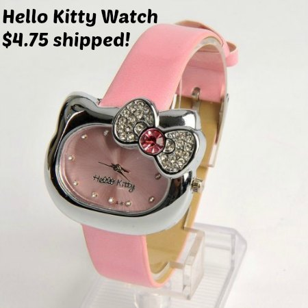 hello kitty pink watch